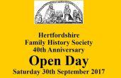 Herts Family History Society Open Day